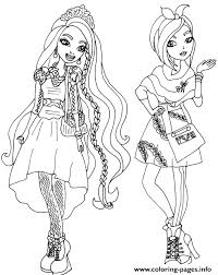 Holly And Poppy O Hair Ever After High Coloring Pages