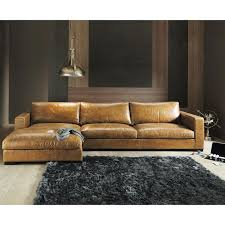 Stylish Light Brown Leather Sectional 17 Best Ideas About Leather