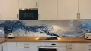 Recently We Completed A Splashback With Striking Digital Image Printed On The Back Of Glass Were Able To Use An Sourced And Provided By