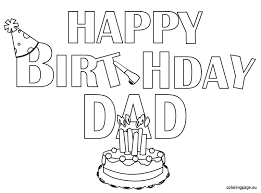 Free Coloring Pages Of Dads Birthday
