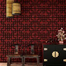 vliestapete asia labyrinth bordeaux rot schwarz tapeten