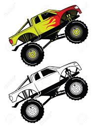 100 Monster Truck Race Coloring Book Cartoon Character Royalty Free Cliparts