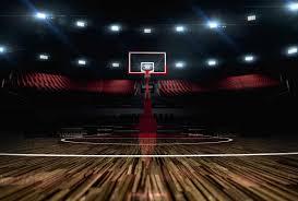 terrain de basket exterieur poster salle de basket trompe l oeil terrain de basketball