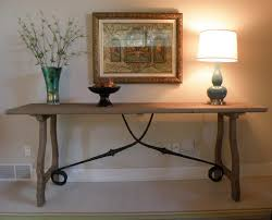Pottery Barn Desks Used by Console Tables Awesome Charming Trestle Console Table In Pottery
