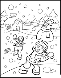 Winter Color Sheet Christmas Coloring
