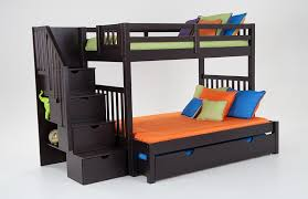 Keystone Stairway Twin Full Bunk Bed With Perfection Innerspring