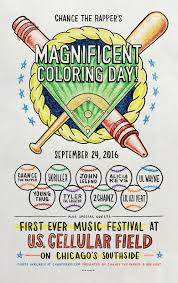 Chance The Rappers Magnificent Coloring Day On September 24 2016 At US Cellular Field In Chicago Silver Wrapper