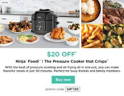 Ninja Kitchen: Up To $30 Off Our Best Gifts Of The Season ... Magictracks Com Coupon Code Mama Mias Brookfield Wi Ninjakitchen 20 Offfriendship Pays Off Milled Ninja Foodi Pssure Cooker As Low 16799 Shipped Kohls Friends Family Sale Stacking Codes Cash Hot Only 10999 My Bjs Whosale Club 15 Best Black Friday Deals Sales For 2019 Low 14499 Free Cyber Days Deal Cold Hot Blender Taylors Round Up Of Through Monday Lid 111fy300 Official Replacement Parts Accsories Cbook Top 550 Easy And Delicious Recipes The