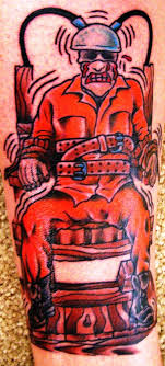 electric chair tattoo
