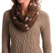 muk luks chunky fair isle infinity scarf for women save 68