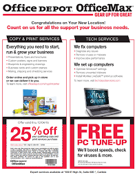 off coupons and more at fice Depot Chamber Carlisle Area