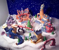 Whoville Christmas Tree Ideas by Whoville Christmas Village The Whole Town Birds Eye View