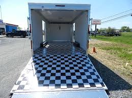 Checkerboard Vinyl Flooring For Trailers by Carmate 8 5x20 Enclosed Car Hauler Trailer Superstore