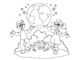 World Day Earth Printable Coloring Pages For