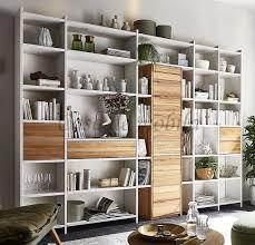 bücherregal contra 310x236x33cm massivholz wohnzimmerregal