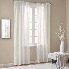 gardinen schals mit stickerei vorhänge schlafzimmer transparent vorhang für große fenster anya white lang 2er set je 245x140cm