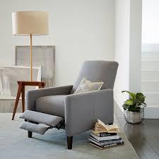 sedgwick leather recliner west elm