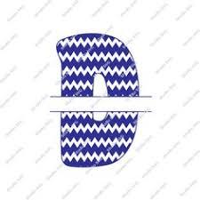 Digital Cut File Split Letters Letter B B Monogram Split