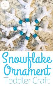 Snowflake Craft For Toddlers To Gift This Christmas Easy Put Together With Minimal Materials