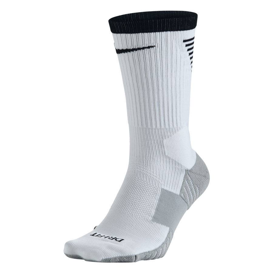 Nike Men's Dry Squad Crew Soccer Socks - White and Black, Large