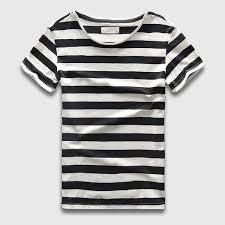 Zecmos New Men Stripe T Shirt Fashion O Neck Short Sleeved Slim Fit Blue Striped