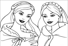 Barbie Princess November Coloring Pages For Kids