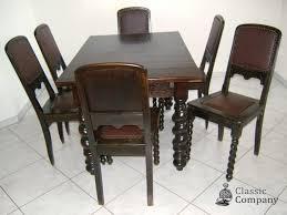 gründerzeit esszimmer tisch stühle kommode büffett standuhr