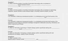 Resume Objectives Sample For Information Technology Best