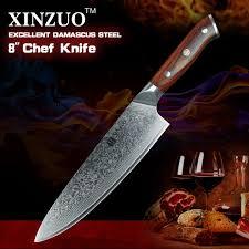 couteau de cuisine professionnel japonais xinzuo 10 pouce couteau de chef japonais damas couteau de cuisine en