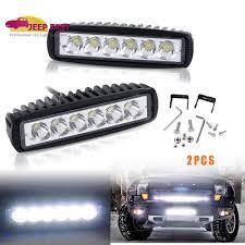 100 Light Bar Truck 2x LED Slim Work Reversing Spot Lamp Off Road Jeep