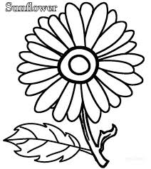 Easy Coloring Pictures For Toddlers Simple Pages Free Sunflower Christmas