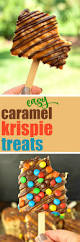 Rice Krispie Christmas Tree Treat Recipe by Easy Gourmet Caramel And Chocolate Rice Krispie Treats Recipe