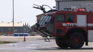 100 Airport Fire Truck Fire Truck Spraying Water On Runway Stock Video Footage