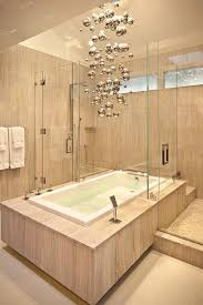 Chandelier Over Bathroom Sink bathrooms contemporary bathroom with cool modern chandelier