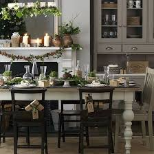 neutral dining room with orange accents decorating ideal
