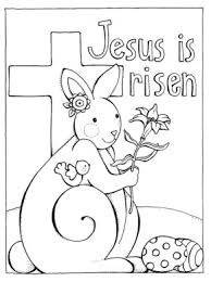 Jesus Easter Sunday Coloring Page
