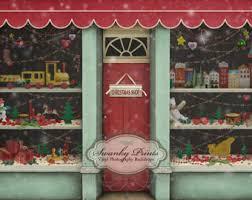 NEW ITEM 5ft X Vinyl Photography Backdrop Custom Prop Christmas Toy Store