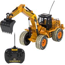 100 Gas Powered Remote Control Trucks 110 Scale RC Excavator Tractor Digger Construction Truck Battery Electric 6 Channel
