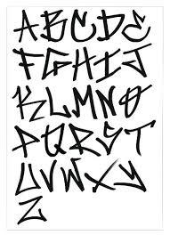 Gang Letters Graffiti Tag Alphabet Back Slanted Font Style Tattoos