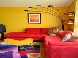Yellow Living Room Color Schemes by Living Room Paint Ideas With Red Sofa Scandlecandle Com