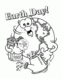 Earth Day Coloring Page Happy For Kids Pages Images