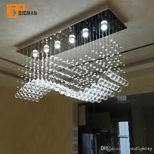großhandel wellenentwurf led kristalllichtleuchter moderne le ac110v 220v glanz wohnzimmer esszimmer leuchten crystallighting 231 3 auf