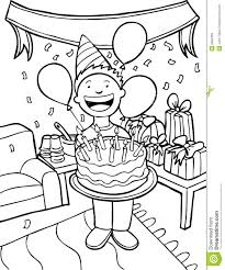 Clipart birthday party black and white
