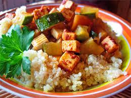 cuisiner les l馮umes autrement couscous de quinoa aux légumes et tofu sans lait sans blé ecole