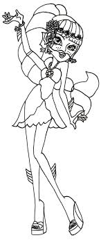 Free Printable Monster High Coloring Sheet For Lagoona Blue In 13 Wishes Basic Doll Assortment