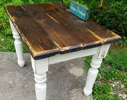 Rustic KITCHEN TABLE Turned Leg Reclaimed Wood Farm House Dining Table Cabin Chunky Legs Frame Thick Or Thin Top Options Custom Sizes Colors