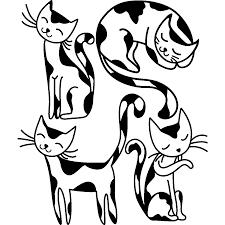 Stickers Muraux Pour Les Enfants Sticker Chatons Mignons