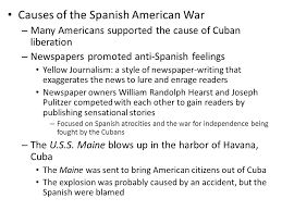 the spanish american war causes of the spanish american war