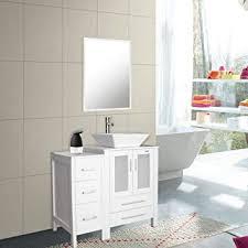 badezimmer kombi waschbecken und waschbecken quadratisch keramik mit wasserhahn ablaufgarnitur abnehmbares mdf platte mit spiegel 1