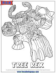 Skylanders Giants Life First Edition Tree Rex Coloring Page